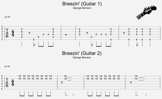 Breezin' George Benson Guitarras 1 y 2