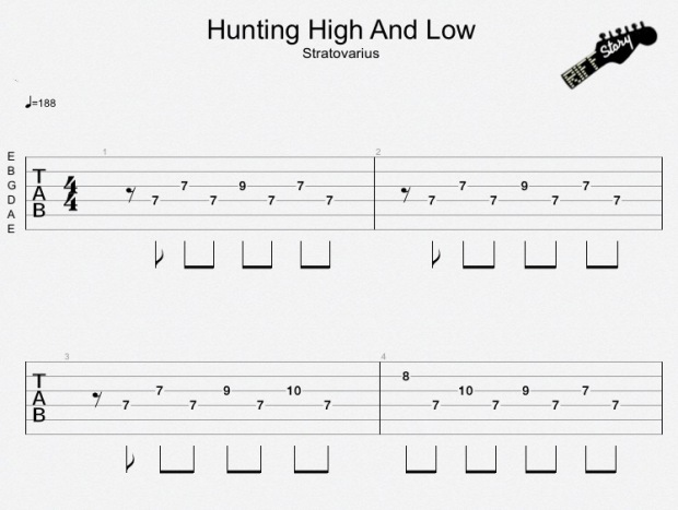Hunting High And Low Stratovarius
