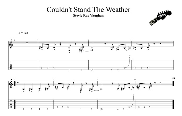Stevie Ray Vaughan & Double Trouble - Couldnt Stand The Weather (guitar pro)-1 2.jpg