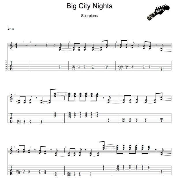 Scorpions - Big City Nights-1