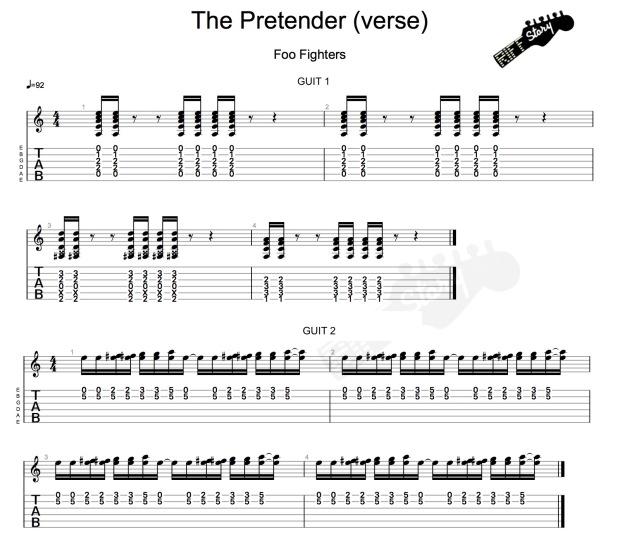 The Pretender (verse) guit 2-1