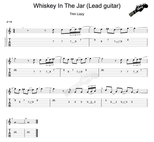 Whiskey In The Jar (Lead guitar)-1